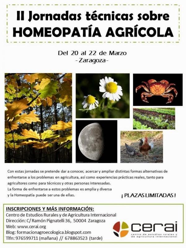 Zaragoza acoge las II Jornadas Técnicas sobre Homeopatía Agrícola