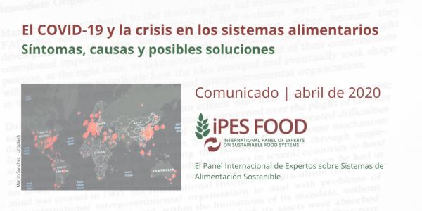 El COVID-19 y la crisis en los sistemas alimentarios