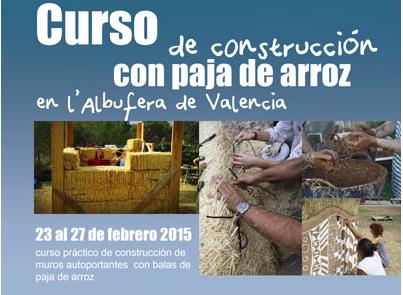 Curso de bioconstrucción con paja de arroz en la Albufera de Valencia