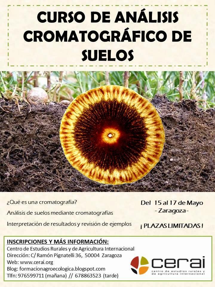 Cartel curso análisis cromatográfico de suelos