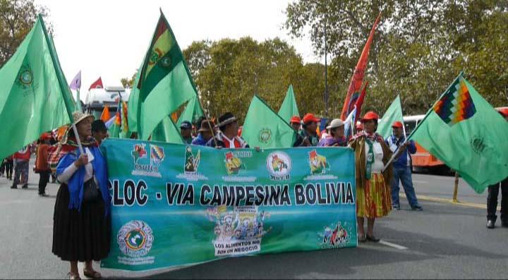 Una gran marcha puso el broche final al VI Congreso de la CLOC en Argentina