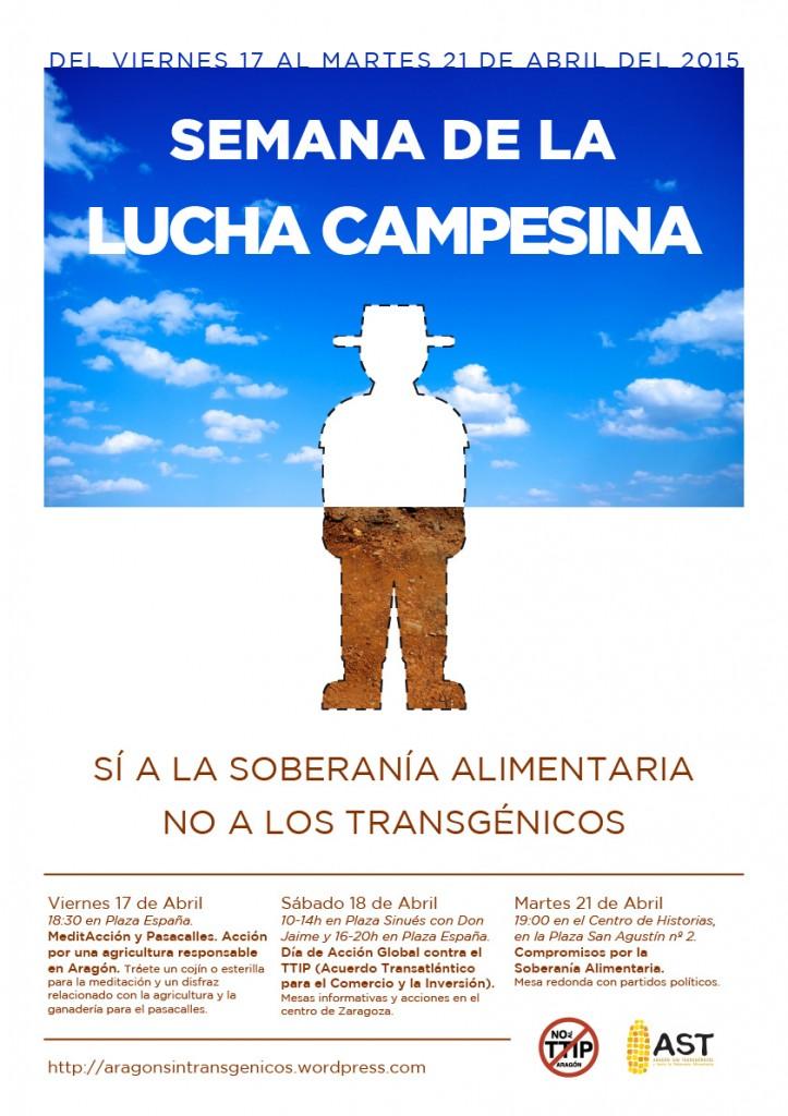 semana lucha campesina en Aragón