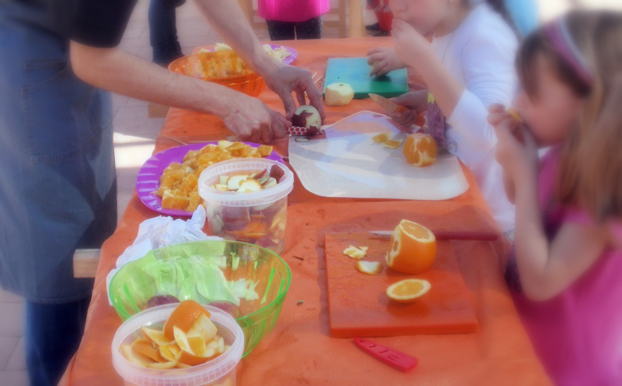 taller infantil preparar un almuerzo saludable