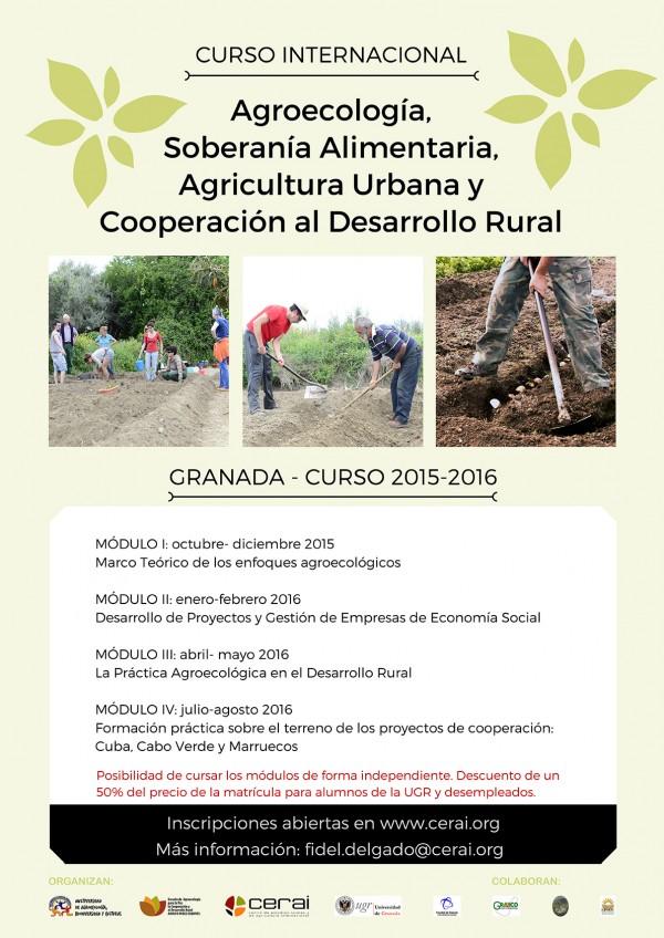 Cartel Curso Granada 2015-2016