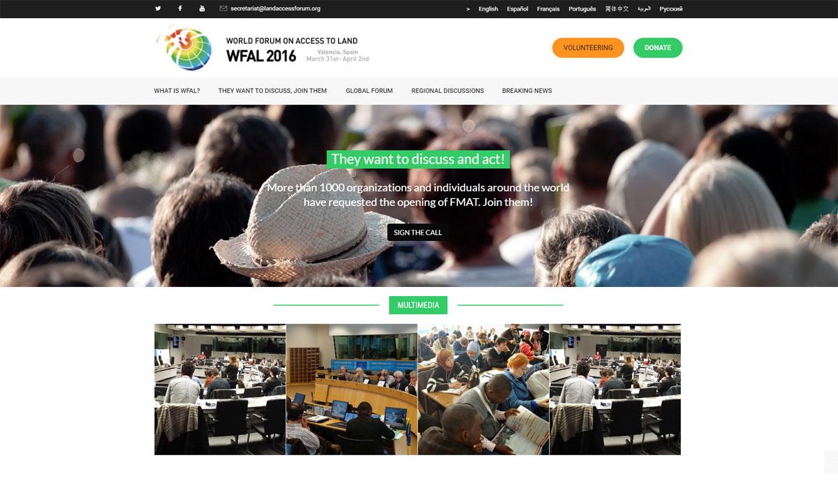 Nueva web del Foro Mundial sobre el Acceso a la Tierra