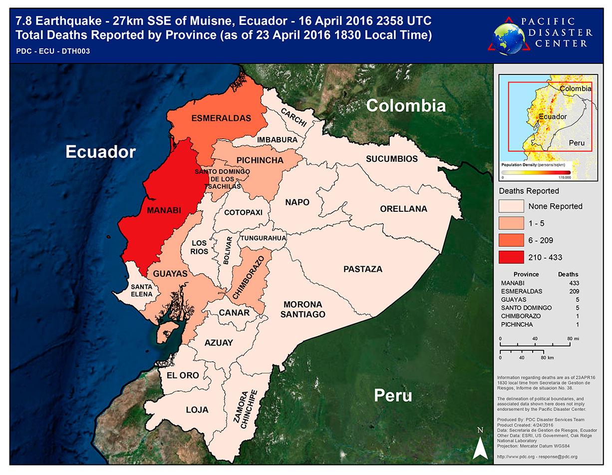 Colaboramos con la ONGD Terranueva para asistir a las víctimas del terremoto de Ecuador