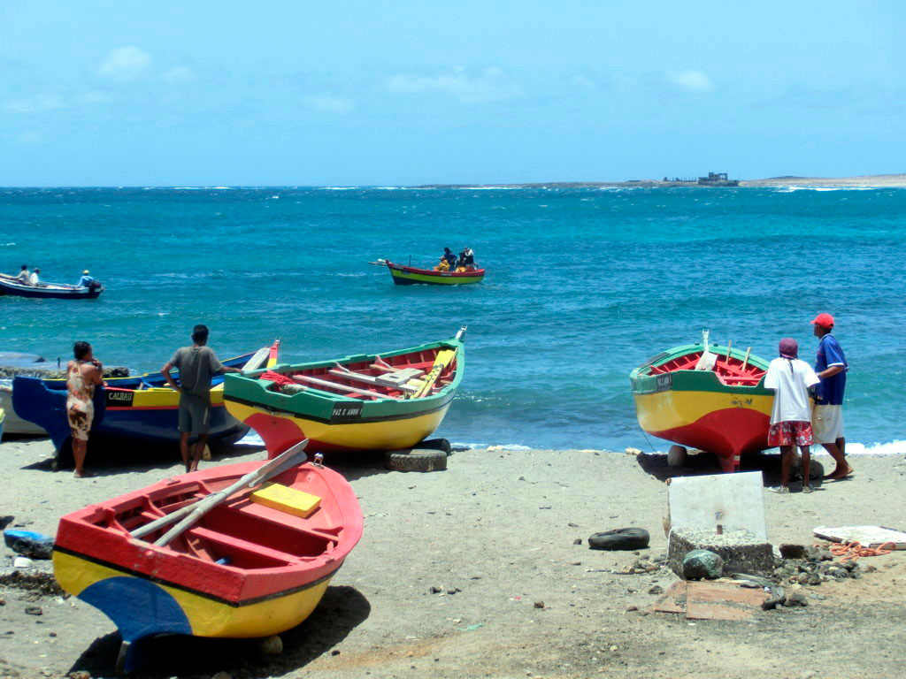 Calhau, pueblo de pescadores (isla de São Vicente)