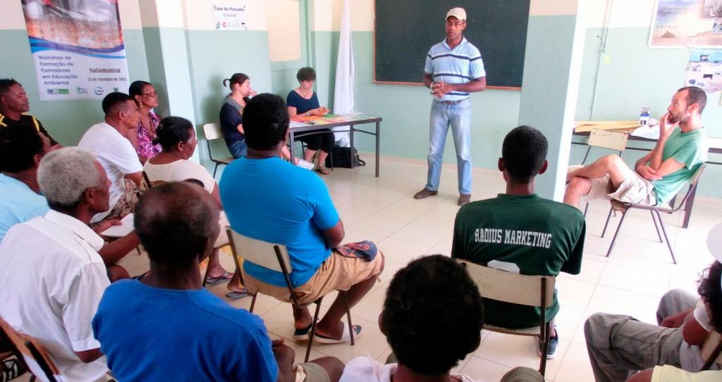 Asamblea Comunitaria en Salamansa, realizada el 29 de mayo de 2016