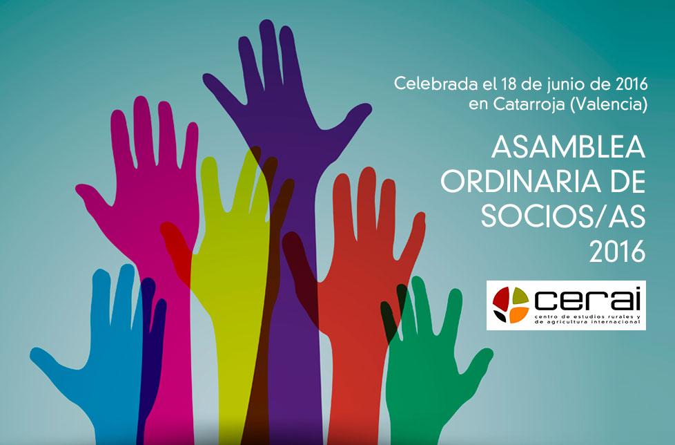 Se ha celebrado la Asamblea General de Socios/as de CERAI 2016