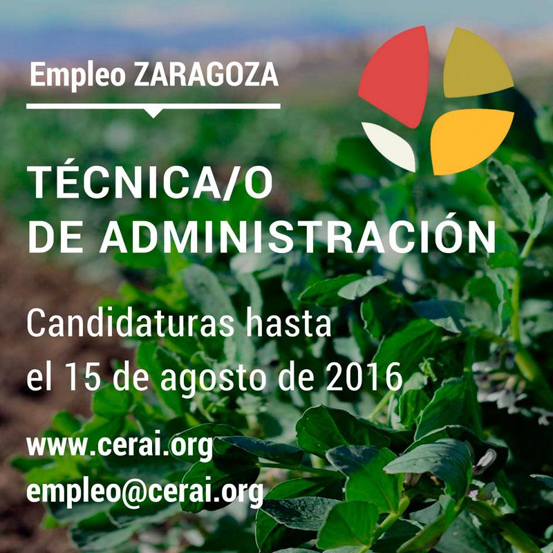 Empleo en Zaragoza: técnica/o de Administración para CERAI Aragón