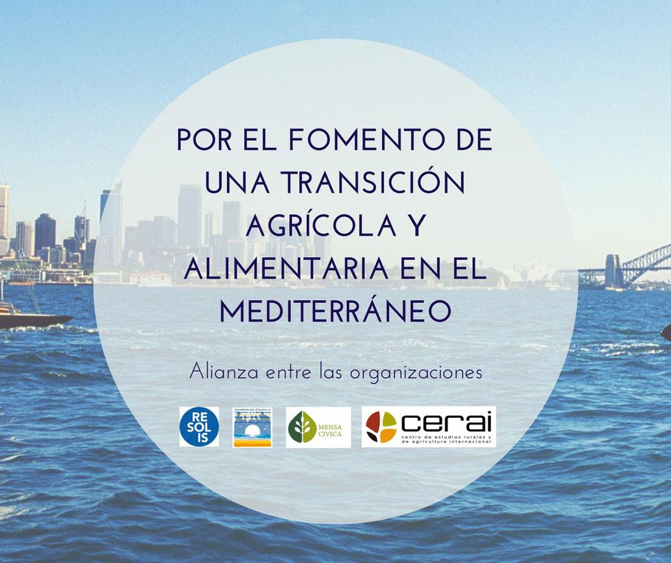 Convenio para el fomento de una transición agrícola y alimentaria en el Mediterráneo