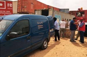 La furgoneta se utilizará en el reparto de materiales a los huertos familiares y para realizar las visitas de seguimiento y asesoramiento agrícola en las 226 familias.