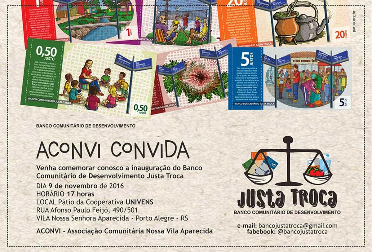 Porto Alegre (Brasil): puesta en marcha definitiva del Banco comunitario JUSTA TROCA, proyecto de finanzas solidarias apoyado por CERAI