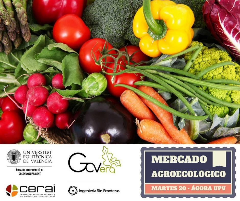 Mercado agroecológico en la Universitat Politècnica de València
