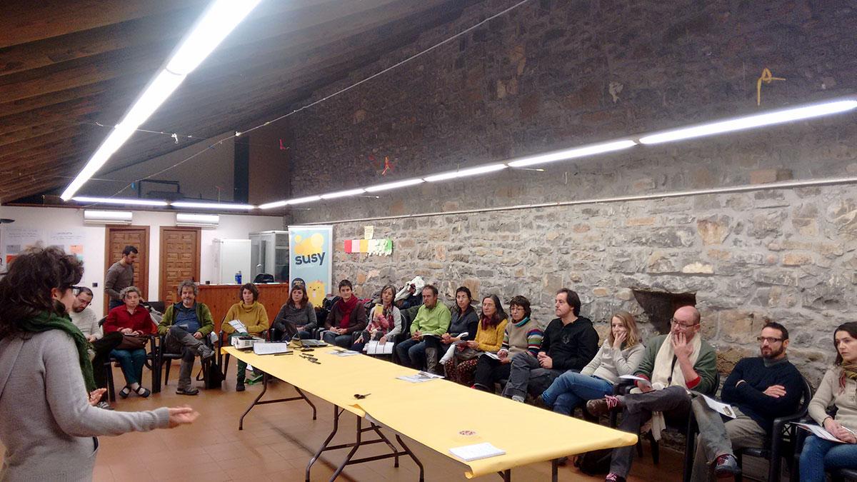 Aínsa (Huesca) acogió un encuentro para construir alianzas en el medio rural a través de la Economía Social y Solidaria