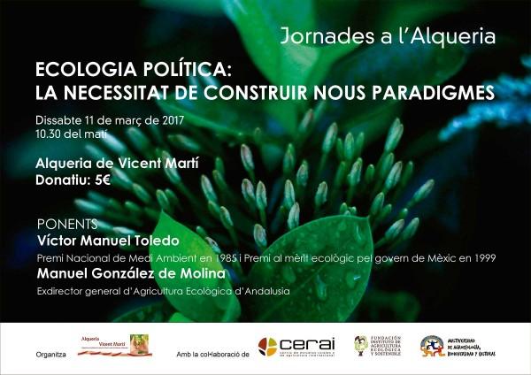Jornada sobre Ecología Política en la Alquería de Vicent Martí