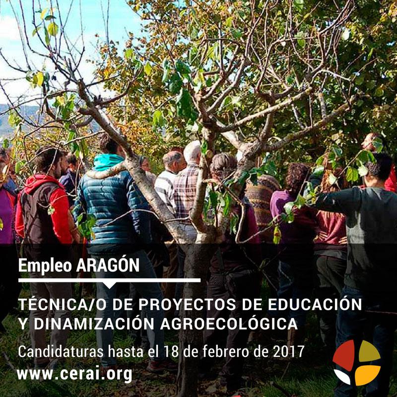 Empleo en CERAI: Técnico/a de proyectos de Educación y Dinamización Agroecológica