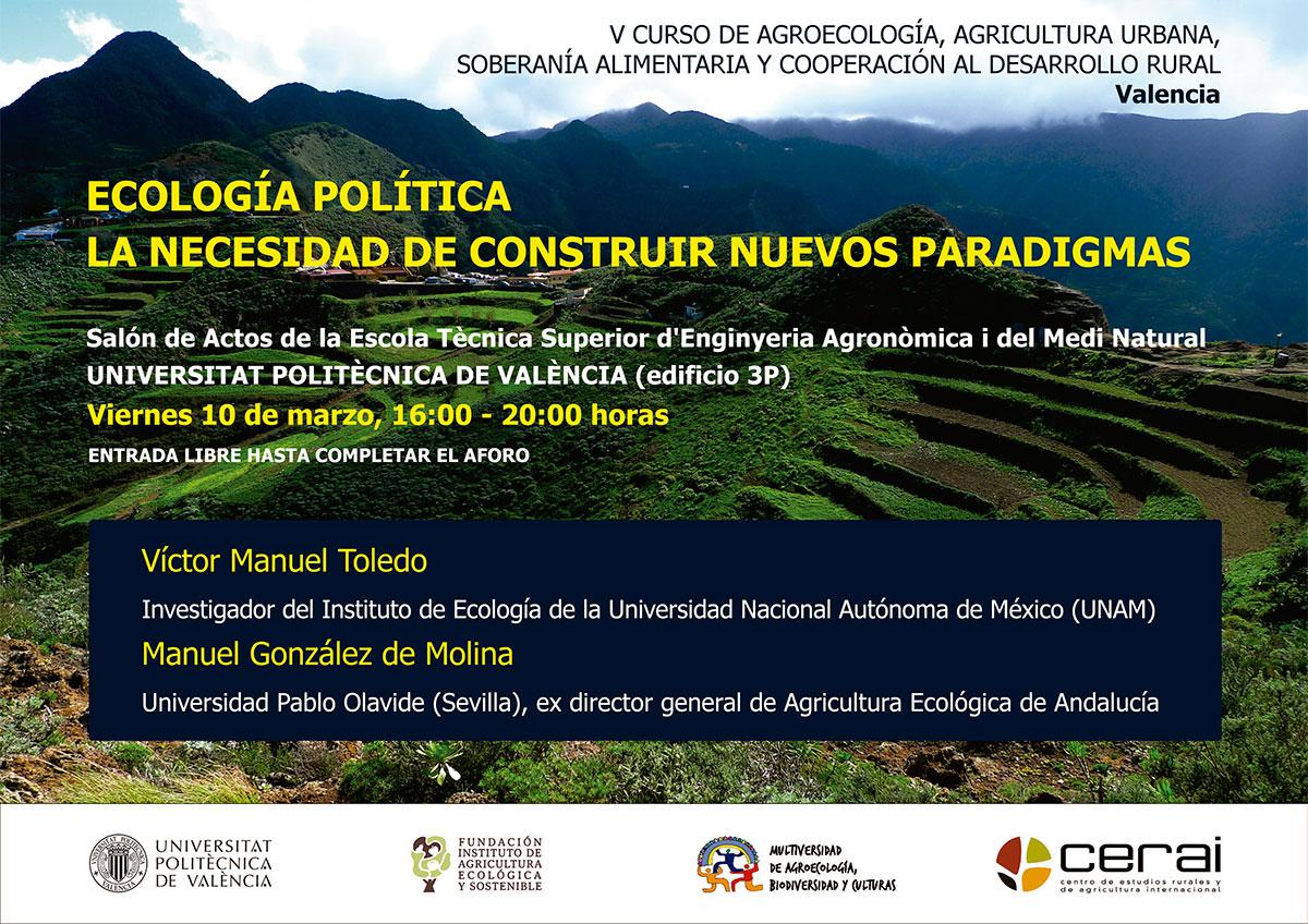 Charla sobre Ecología Política en la Universitat Politècnica de València