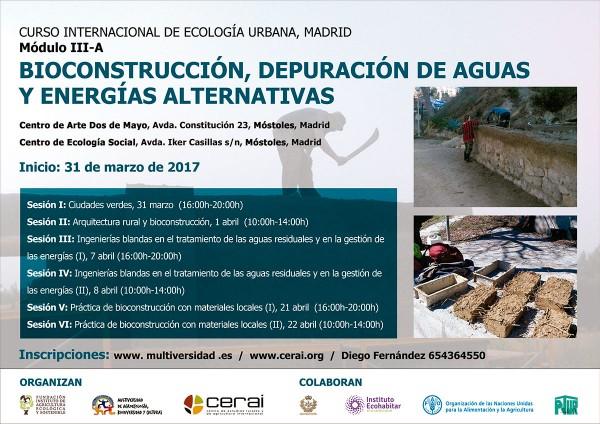 Bioconstrucción, depuración de aguas y energías alternativas
