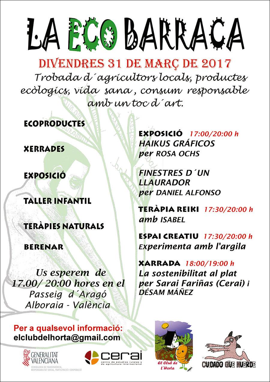 """La """"Sostenibilitat al Plat"""" estará presente en el evento La EcoBarraca"""