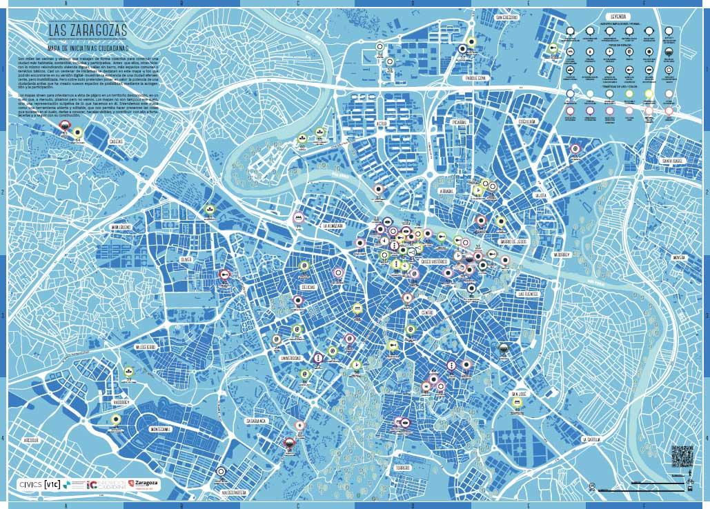 Las Zaragozas, un mapa de iniciativas ciudadanas de Zaragoza