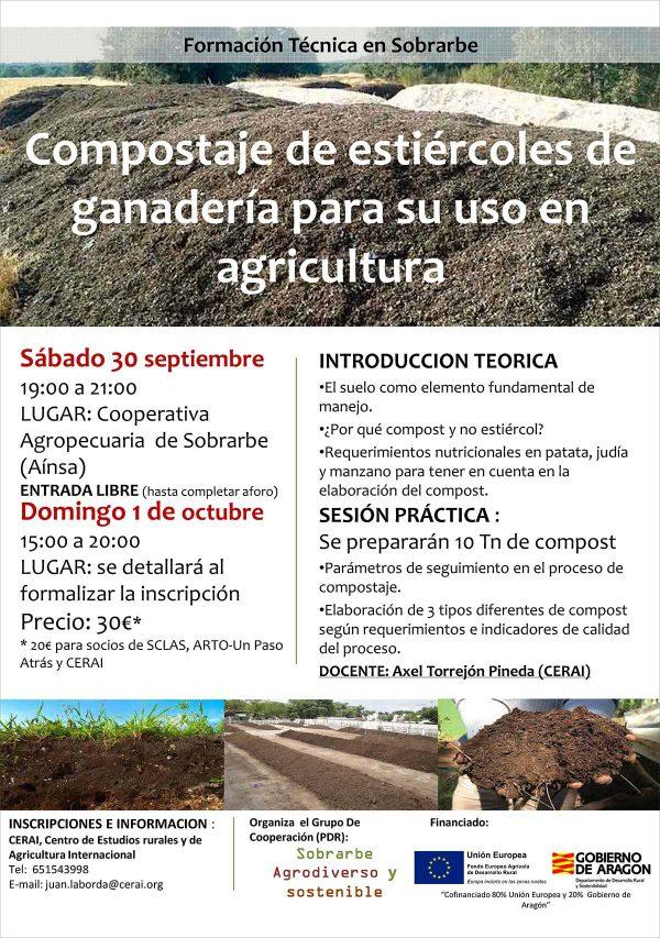 Curso sobre compostaje de estiércoles de ganadería para su uso en agricultura