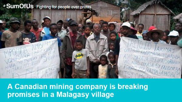 Denunciamos las presiones de una minera sobre una comunidad rural en Madagascar