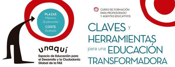 """Curso """"Claves y herramientas para una educación transformadora"""""""
