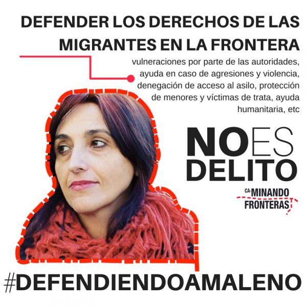 Nos sumamos al manifiesto en apoyo de la defensora de derechos humanos Helena Maleno