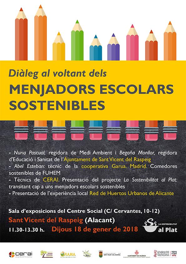 Diálogo sobre comedores escolares sostenibles - CERAI