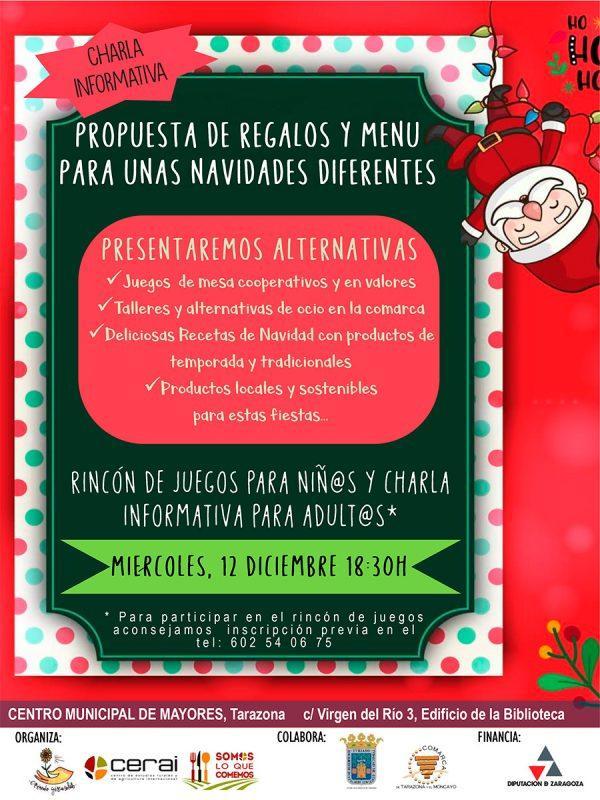 Charla: Regalos y menú para unas Navidades diferentes