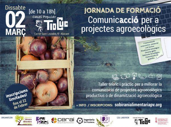 """Jornada de formación: """"ComunicAcció per a projectes agroecològics"""""""