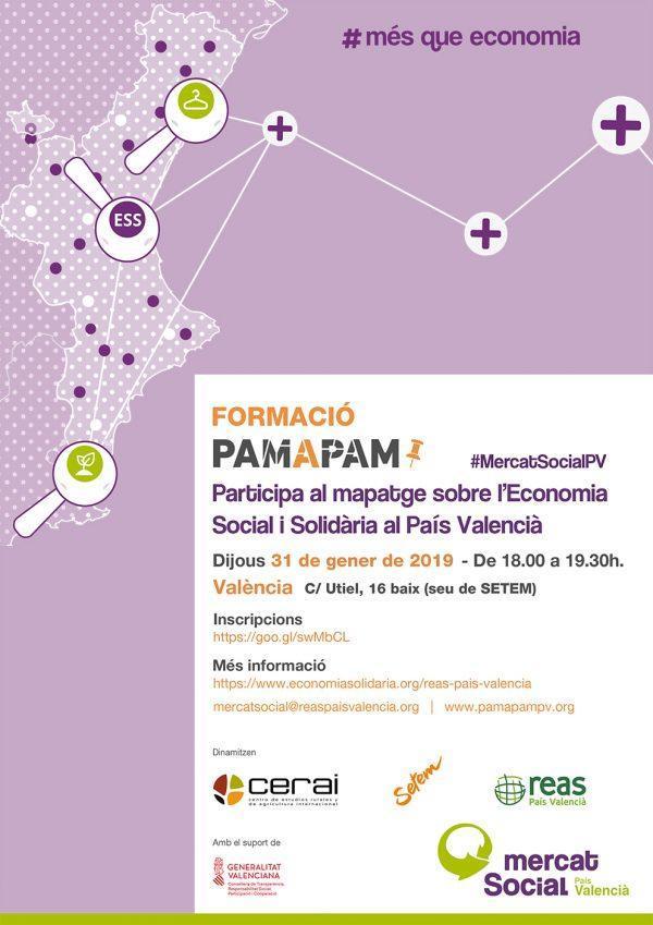 """Formación y taller práctico """"Pam a Pam"""" en Valencia"""