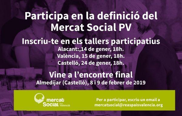 El Mercat Social del País Valencià necesita tu opinión