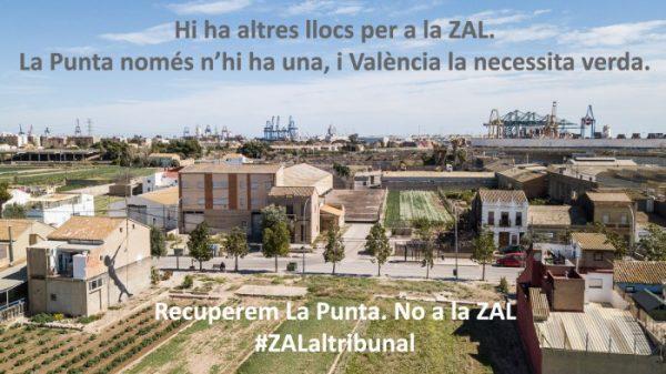 Llamamiento a la ciudadanía para financiar el recurso judicial contra la ZAL en La Punta (Valencia)