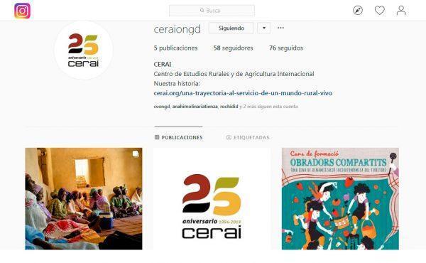 Abrimos página en Instagram: búscanos como ceraiongd