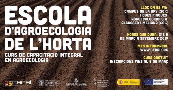 """""""Escola d'agroecologia de l'horta"""": curso de capacitación integral en agroecología en Valencia"""