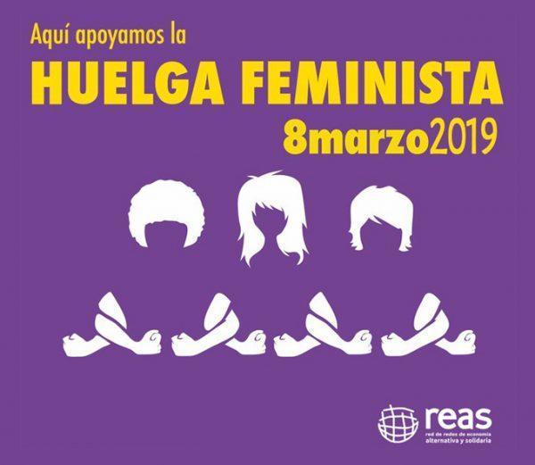 REAS Red de Redes se une a la convocatoria internacional del movimiento feminista