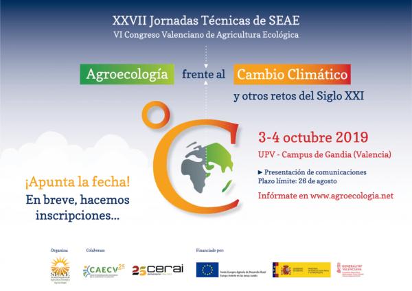 XXVII Jornadas Técnicas de SEAE y VI Congreso Valenciano de Agricultura Ecológica