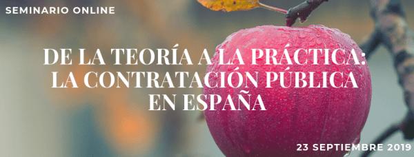 Seminario online sobre la contratación pública en España