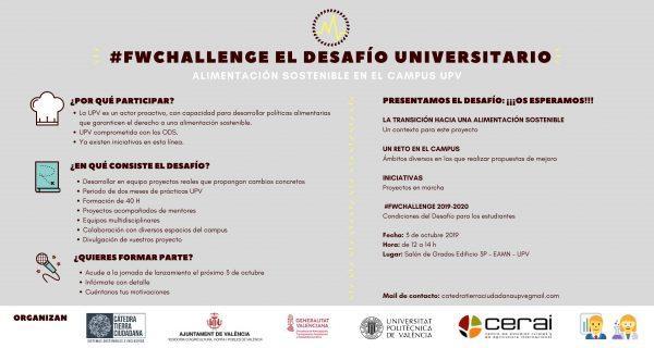 CERAI participa en la 2a edición del #FWChallenge en la Universitat Politècnica de València