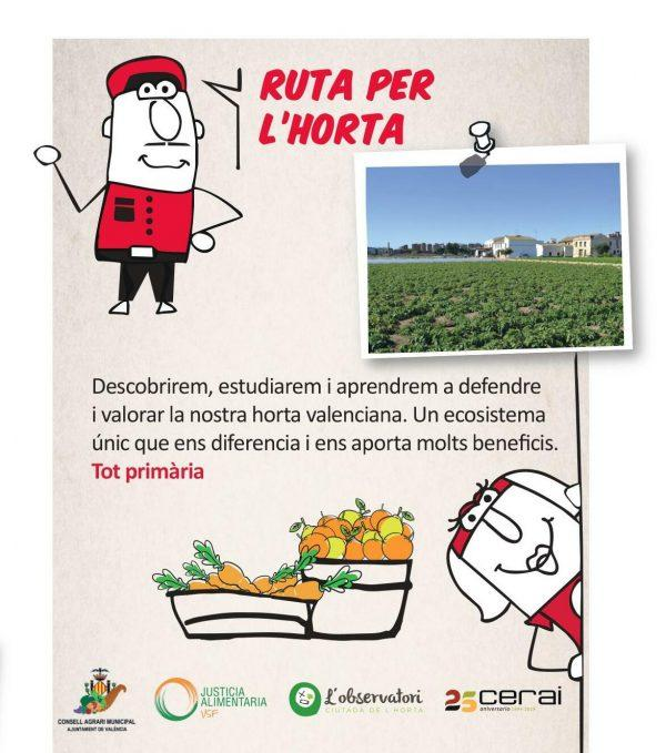 Colaboramos con la EMT de València para acercar a los escolares a la huerta