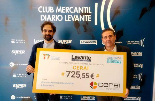 Levante-EMV, comprometido con los ODS, entrega un donativo a CERAI