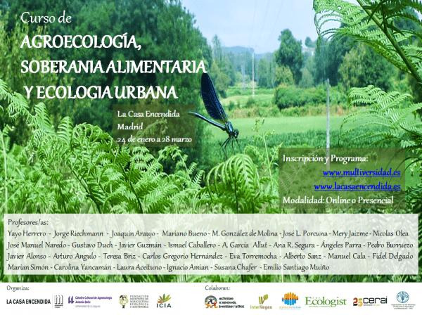 Curso de agroecología, soberanía alimentaria y ecología urbana