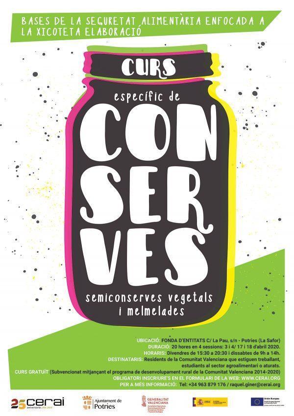 Curso de conservas, semiconservas vegetales y mermeladas
