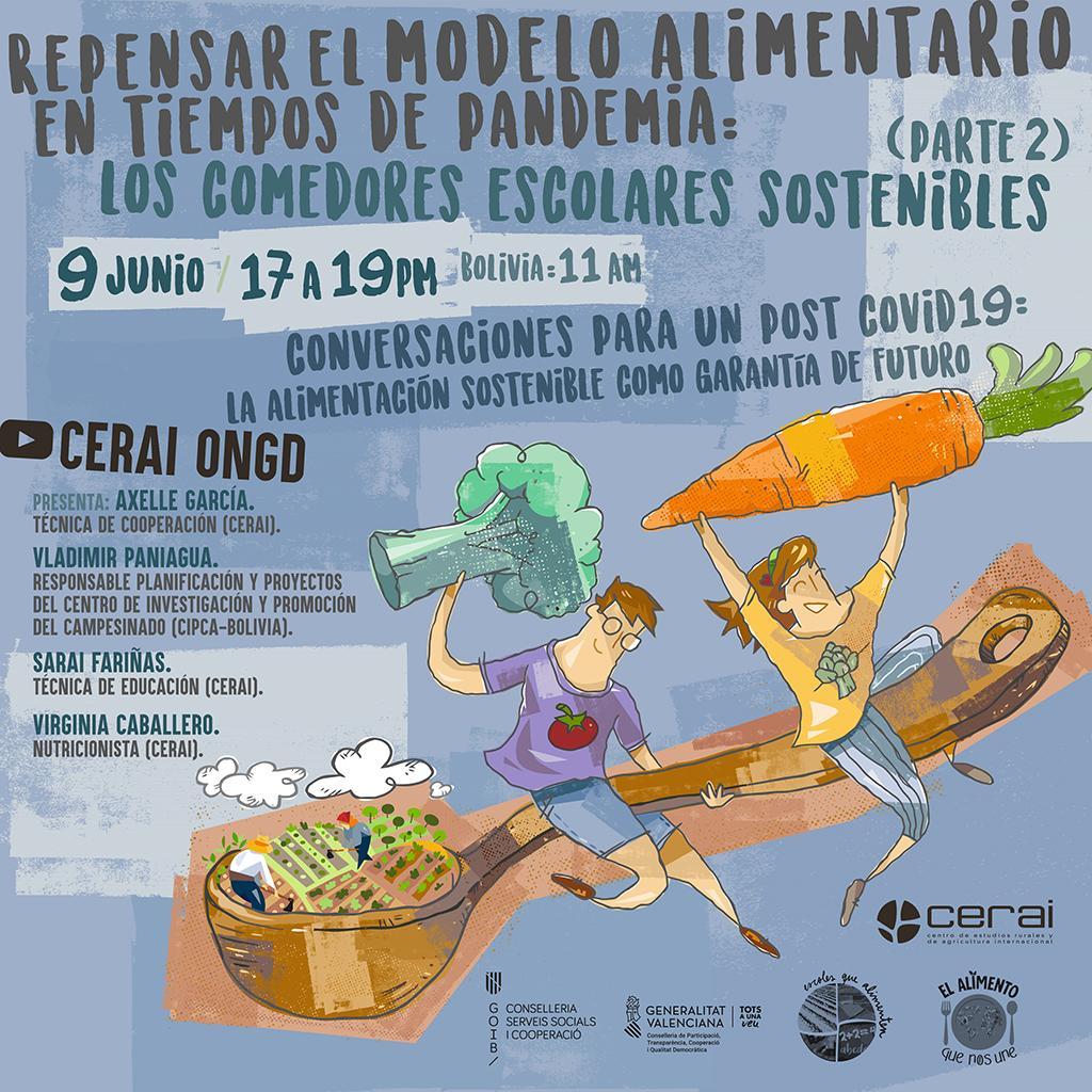 Conversaciones para un post Covid-19: La alimentación sostenible como garantía de futuro.