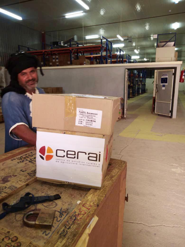 CERAI colabora con la entrega de medicamentos esenciales para la población refugiada saharaui