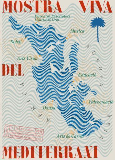 Cartel oficial de la 8ª edición de Mostra Viva del Mediterrani