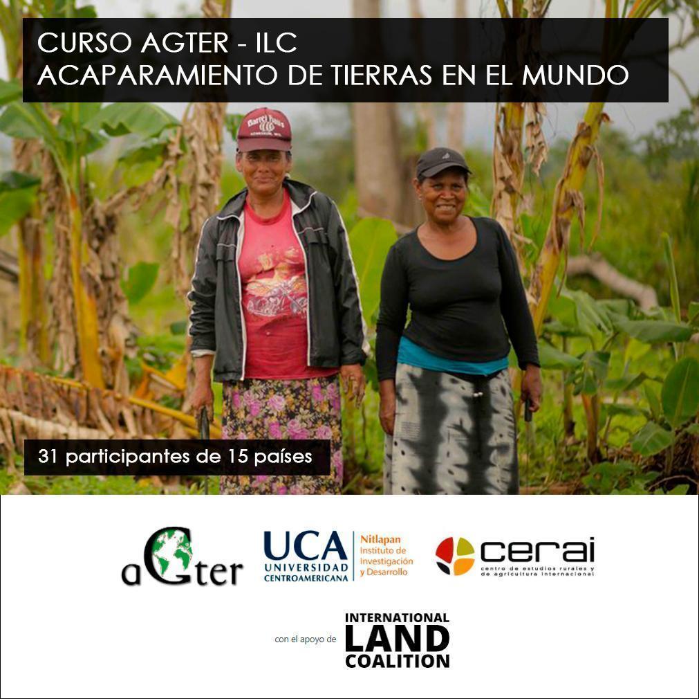 Buena acogida del curso sobre acaparamiento de tierras impulsado por AGTER y la ILC