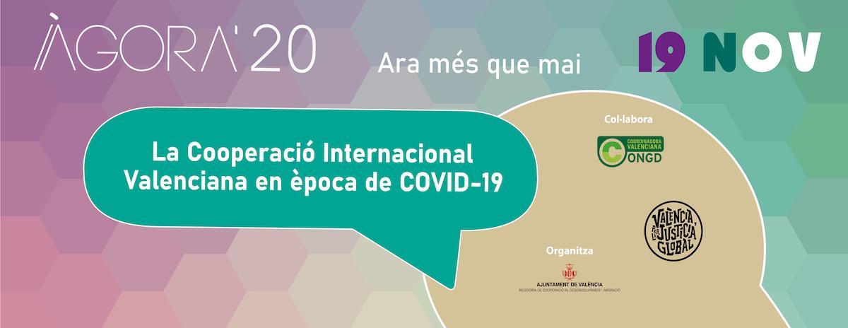 ÀGORA 2020: La Cooperación Valenciana en época de COVID-19